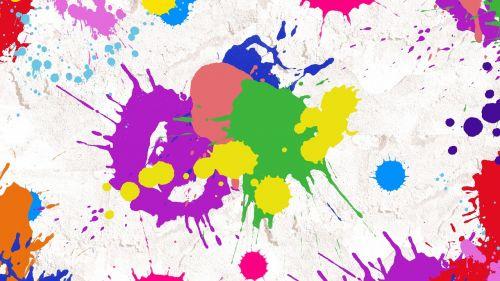splatter paint abstract art