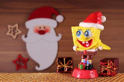 spongebob  sponge head  christmas