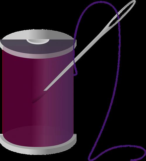 ritė,verpalai,violetinė,sriegis,adata,amatų,siuvimas,rankdarbiai,rankų darbo,siūti,izoliuotas,individualus,rankdarbiai,Roll,nemokama vektorinė grafika