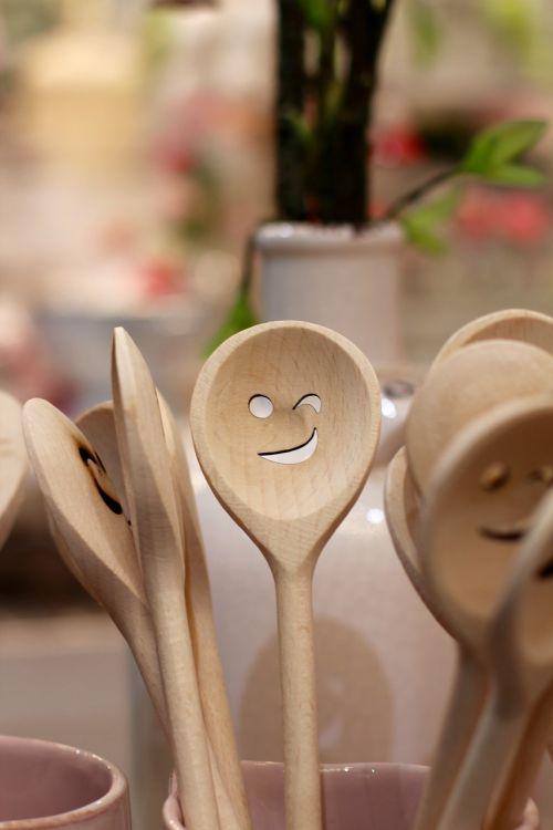 spoon face wooden spoon