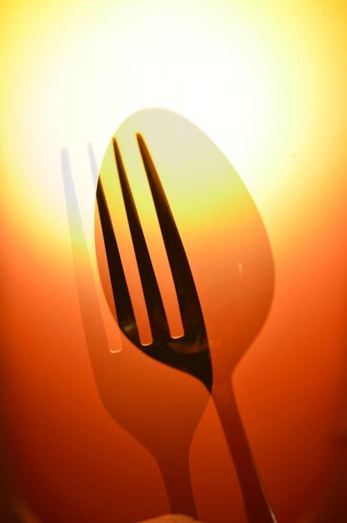 spoon fork eat
