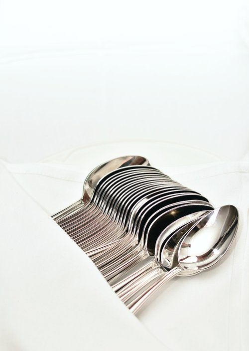 spoon  silver  chrome