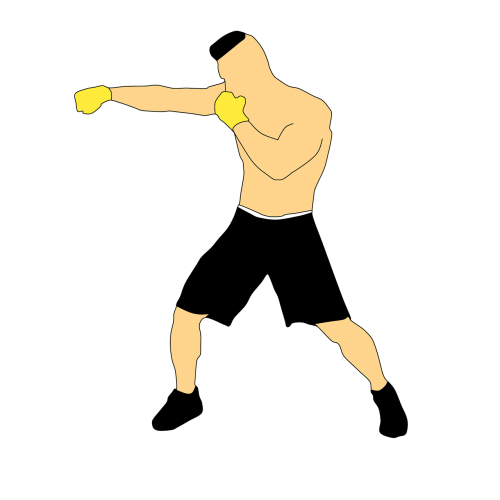 sport man boxing