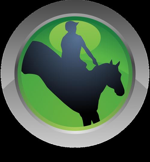 sport icon horse