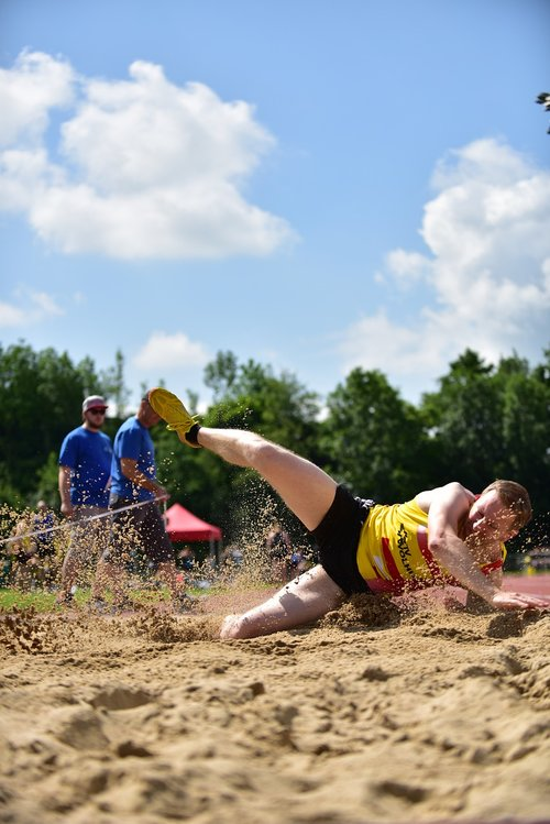 sport  long jump  competition