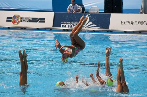 sport swimming synchronized