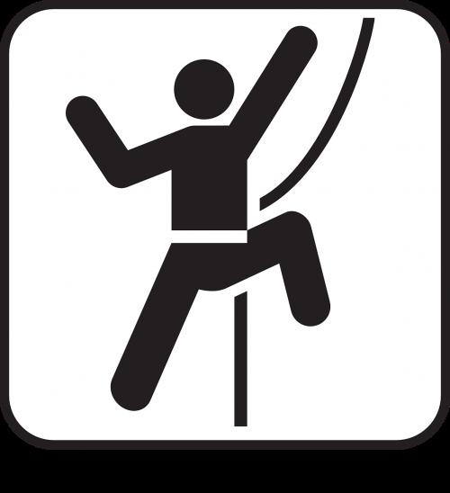 sport climbing climbing person