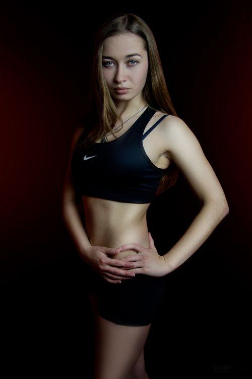 sports girl photoshoot