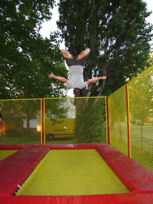 sports,trampoline,bounce man,go to,somersault,entertainment
