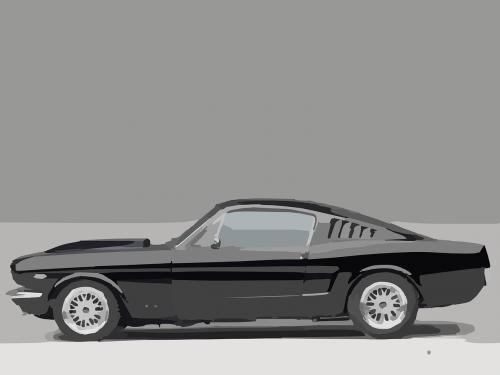 sports car muscle car vintage