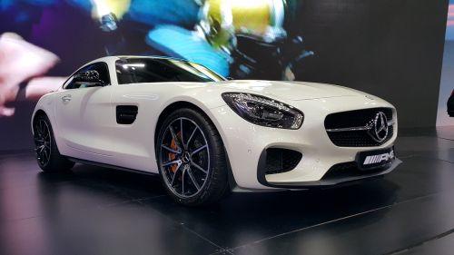 sportiniai automobiliai, geriausi automobiliai, mercedes, paroda, benz, balta, mercedes-amg gt s, pirkti turbo variklį
