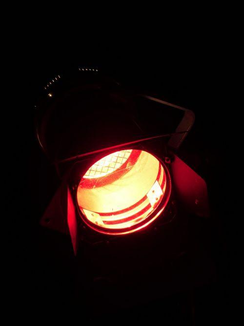 spotlight lamp night