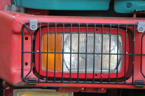 spotlight  protective grille  all terrain vehicle