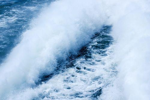 Spray Behind Boat