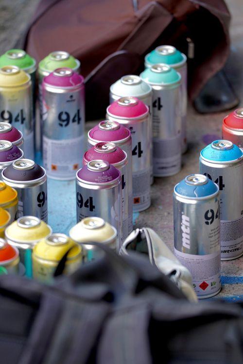 spray cans graffiti shades