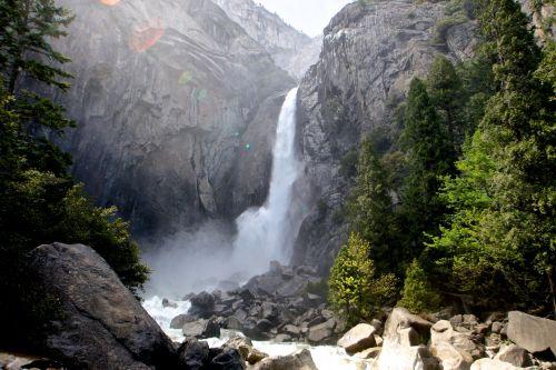 Spray From Lower Yosemite Falls