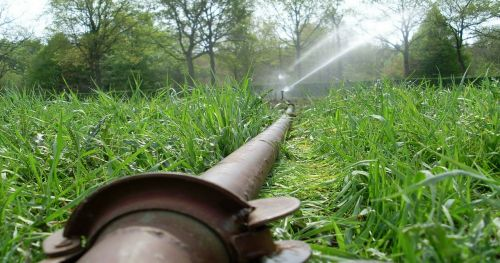 spraying irrigation agriculture