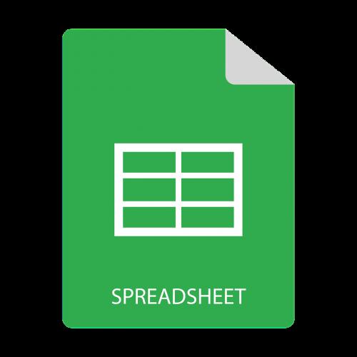 spreadsheet file miniature