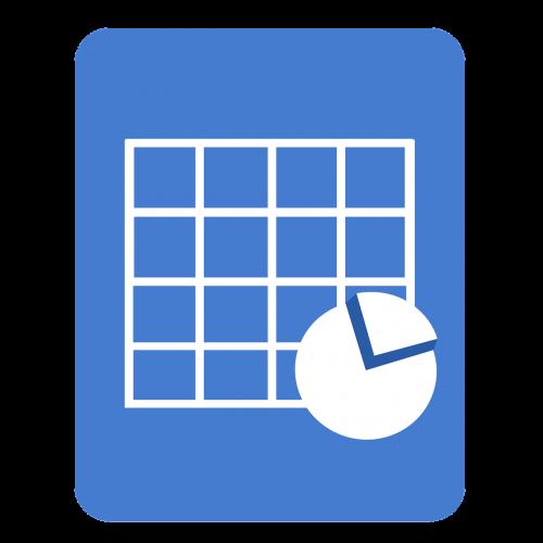 spreadsheet document icon sheet