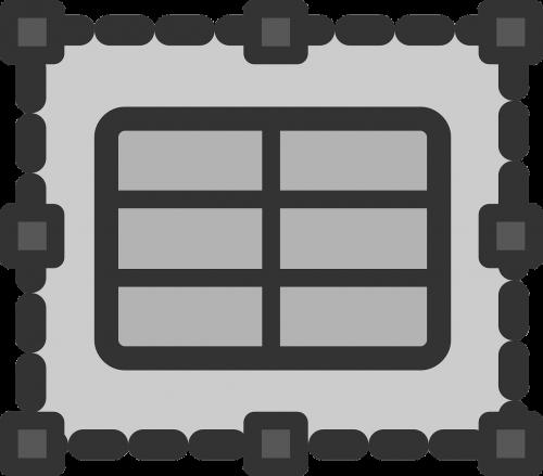 spreadsheet frame table