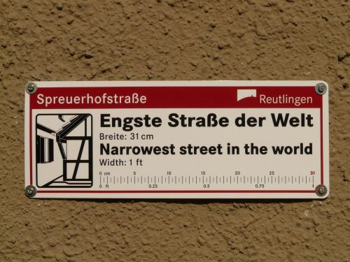 spreuerhofstraße narrowest street in the world record