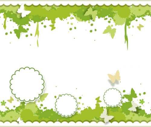 spring background blob