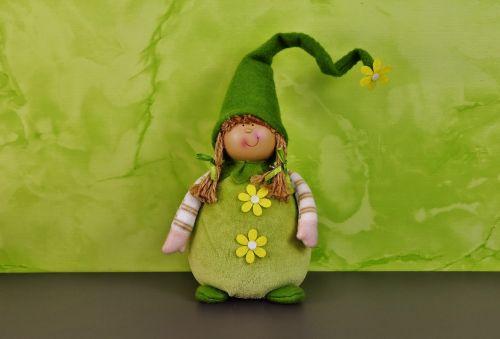 spring imp green doll