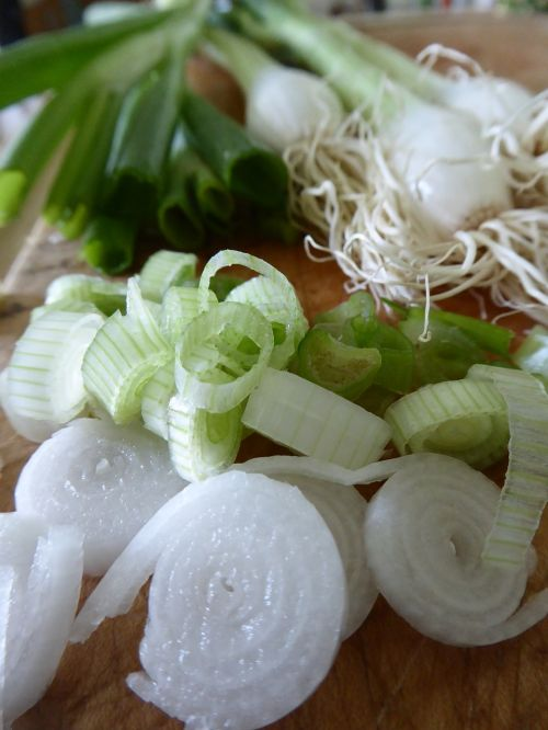 spring onions vegetables tuber