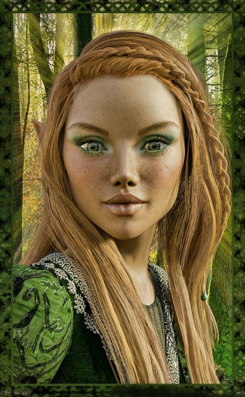 spring witch nature elves