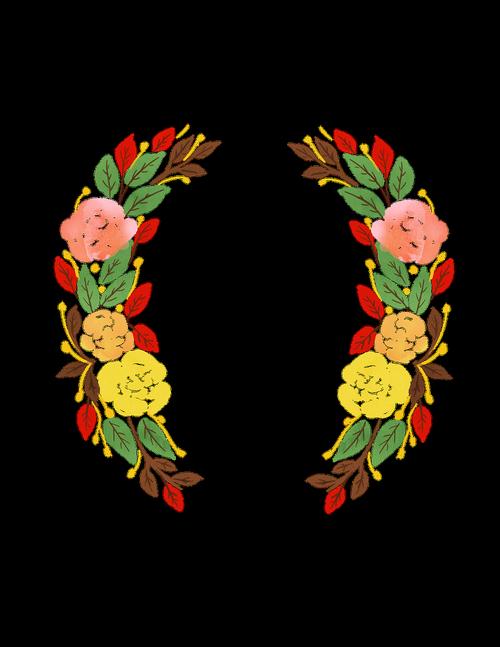 spring wreath  watercolour wreath  flowers