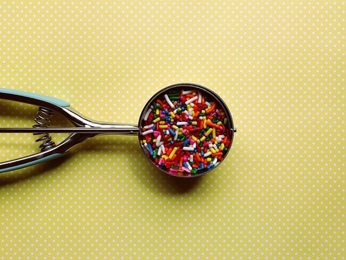 sprinkles  colorful  ice cream