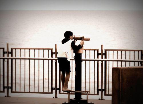 spyglass binoculars boy