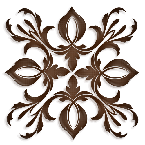 square medallion brown