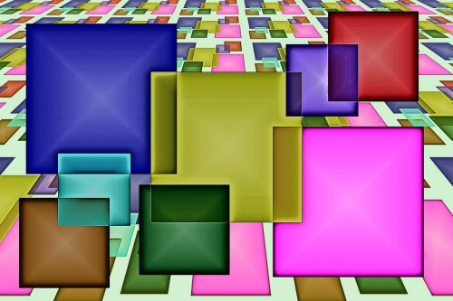 square pattern abstract