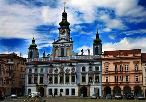 square czech budejovice south bohemia