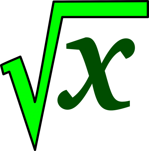 square root math green