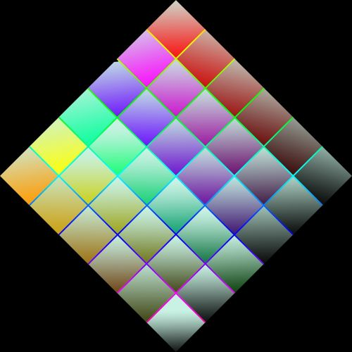 squares rainbow colors