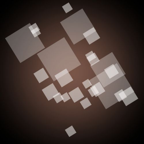 Squares On Brown Background