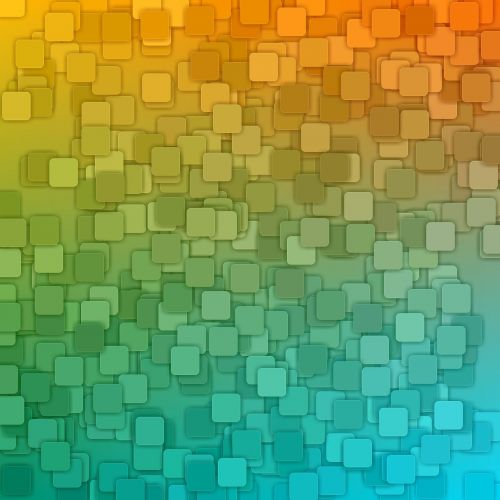 Squares On Gradient Background