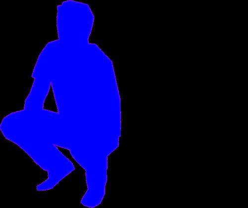 squatting man adult