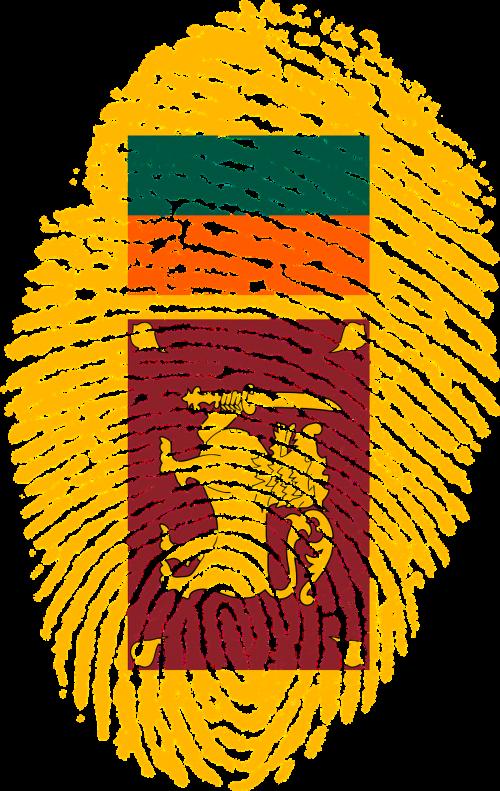 sri lanka flag fingerprint