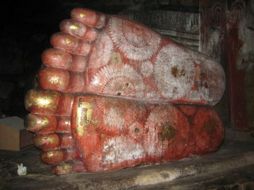 sri lanka feet lying budha
