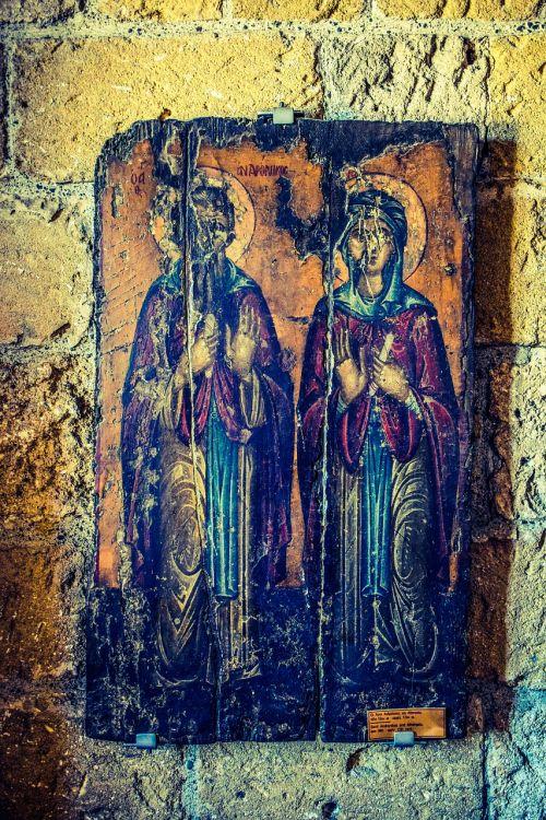 st andronikos st athanasia icon 16th century