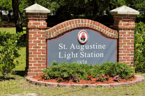 St. Augustine Lighthouse Sign