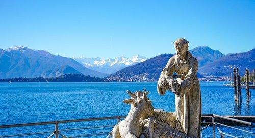 st francis  lago maggiore  laveno
