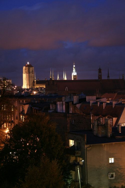 st mary's church gdańsk city