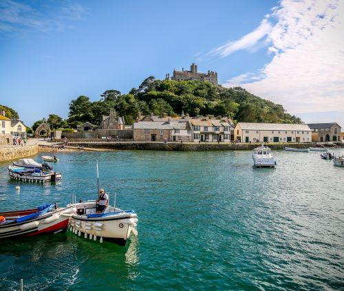 st michaels mount harbour harbour coast
