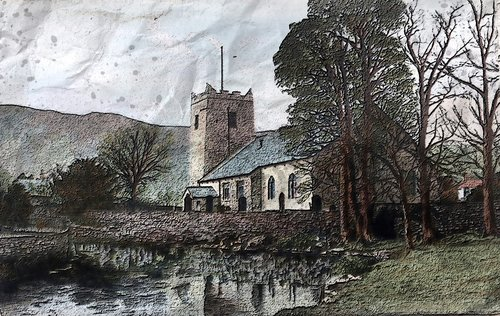 st oswald church grasmere  church  old