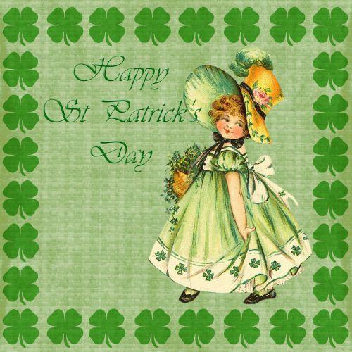 St Patricks Day Card Vintage