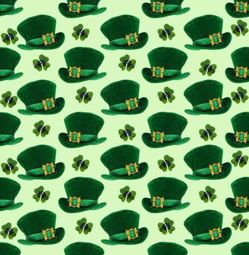 St Patricks Day Hats Background